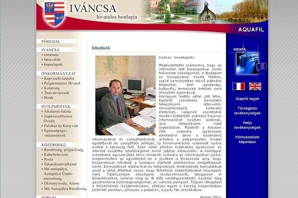 Iváncsa hivatalos honlapja
