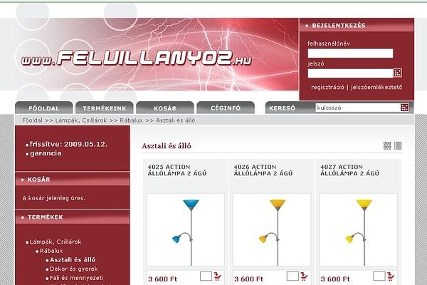 Felvillanyoz-Villamossági és lámpa webáruház