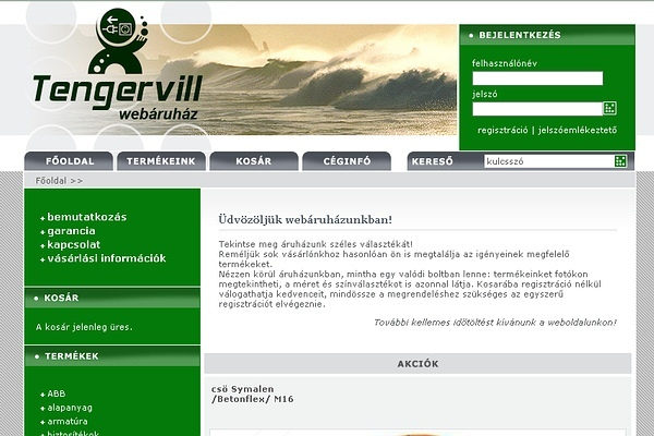 Tengervill Webáruház
