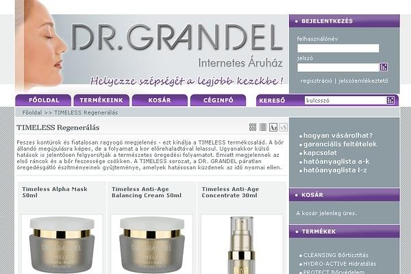 Dr. Grandel Kozmetikumok webáruháza