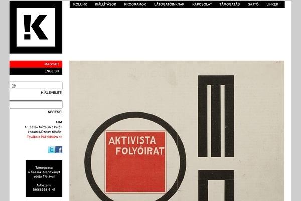 Kassák Múzeum honlap