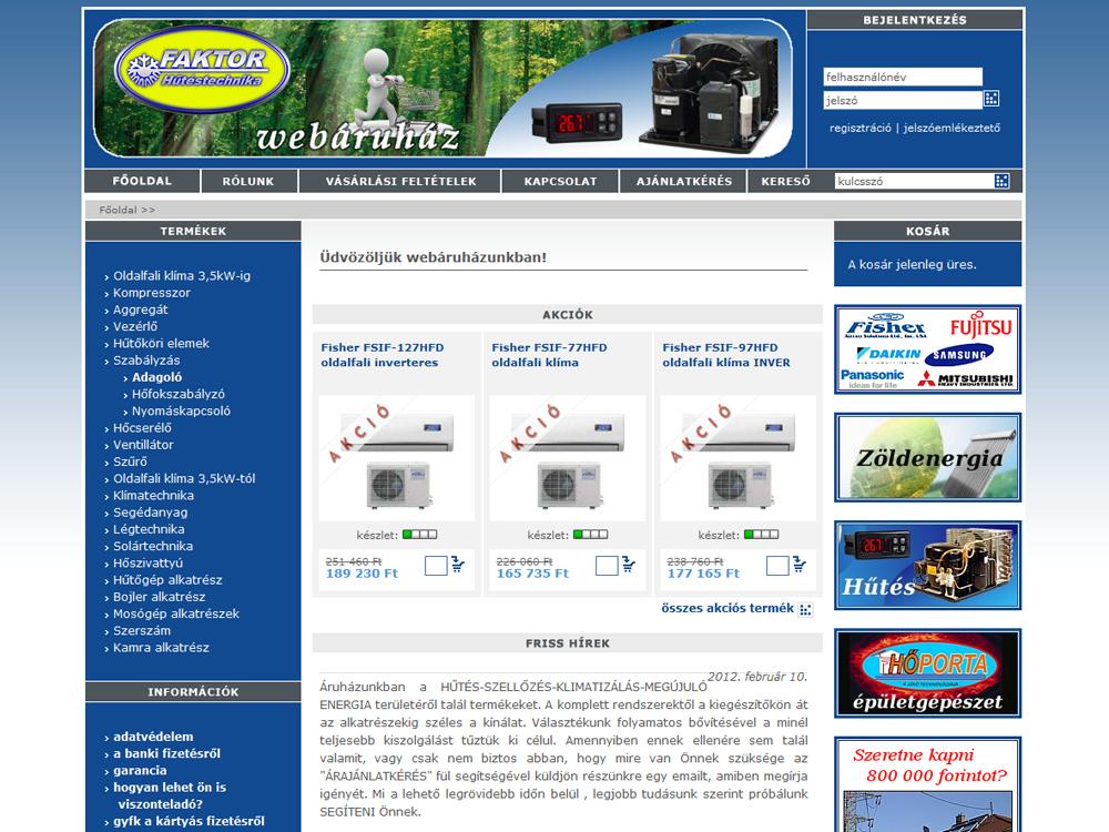 Faktor webáruház
