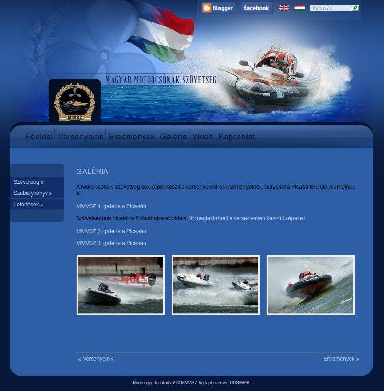 Magyar Motorcsónak Szövetség honlapja