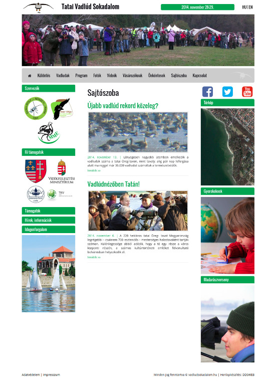 Tatai Vadlúd Sokadalom honlapja