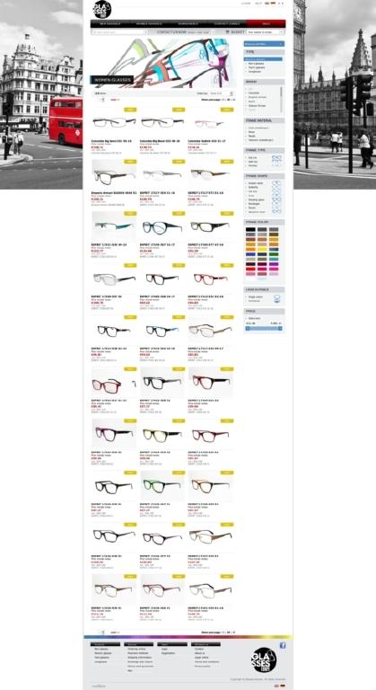 Glasses Europe webshop