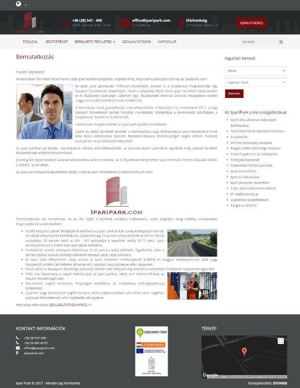 Iparipark.com honlap