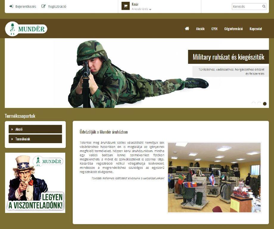 Mundér webshop 2.0