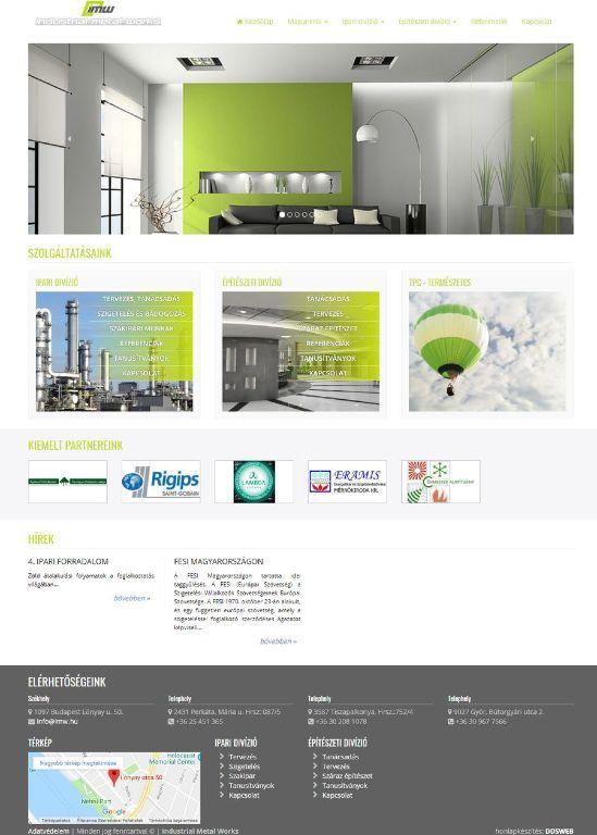 IMW céges honlap